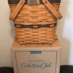 Longaberger 1996 Collectors-charter member basket